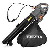 Terratek Leaf blower Garden Vacuum and Shredder, 35L Leaf...