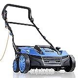 Hyundai 230v 1800w Electric Lawn Scarifier Aerator Lawn Rake 5...
