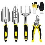 AGAKY Garden Tool Set 5 Piece Aluminum Gardening Tools Kit with...