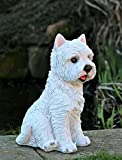 Garden Ornament Westie Dog Highland Terrier Animal Sculpture...