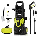 1650W 135Bar 420L/H Electric Jet Washer Pressure Washer, Portable...