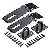 JIZZU 2 Pack 3 inch Black Door Locks for Garden Gate Internal...