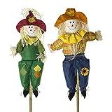 SIAM EXPRESS Set of 2 70cm Medium Stick Scarecrow Halloween Decor...