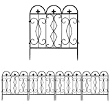LUVODI Metal Garden Fences, 27.5in x 10ft Decorative Garden Fence...