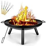 Outdoor Fire Pit, Garden Patio Heater Charcoal Log Wood Burner,...