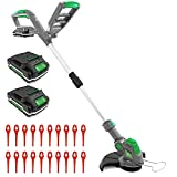 Gracious Gardens 18V Cordless Strimmer with 2 Batteries & 30...