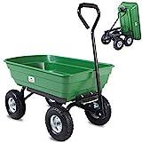 Deuba Garden Tipping Cart Dump Truck Wheelbarrow Trolley 300kg...