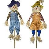 SIAM EXPRESS Set of 2 156cm Large Stick Scarecrow Halloween Decor...