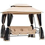 Outsunny 3 Seater Swing Chair Hammock Garden Patio Cushioned Seat...