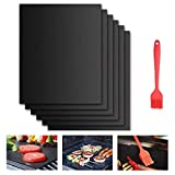 Beshine BBQ Grill Mat, 6-Pack Non-Stick Barbecue Baking Mats for...