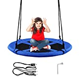 COSTWAY Nest Swing, Hanging Tree Swing Seat with Length...