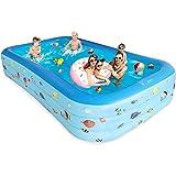 Bestrip Rectangular Inflatable Pool, Large 10 feets (120 x 45 x...