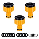 YAAVAAW 3 pack Garden Hose Tap Connector - BSP Threaded Tap...