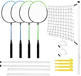 Taylor & Brown Complete 4 Player Badminton Set with Rackets Poles...