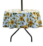 SUQIOME Outdoor and Indoor 60inch Round Tablecloth with Umbrella...