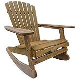 Woodside Rocking Adirondack Chair Outdoor Wooden Garden Patio...