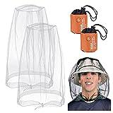 2 Pieces Mosquito Head Net, Nylon Face Net Mesh,Mesh Bug Net for...