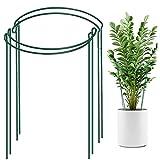 KKSTY 4PCS Garden Plant Support Stake Green Half Round Garden...