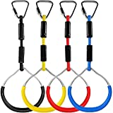 Children Gym Rings, Slackline kit Equipment for Trapeze Bar,...
