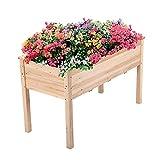 Yaheetech Raised Garden Bed Fir Wood Elevated Planter Box...