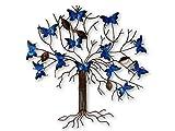 Thai Gifts Butterfly Wall Art - Metal Butterfly Tree - Blu