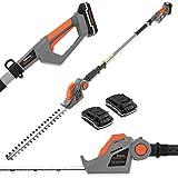 Terratek 20V Cordless Electric Hedge Trimmer Cutter 2 x 20V Max...