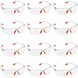 Kurtzy 12 Pack of Wrap Around Safety Glasses with Clear Lenses...