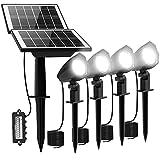 MEIHUA 4 in 1 Solar Spotlights Outdoor Garden Light Solar-Powered...