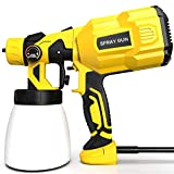 Paint Sprayer, papasbox 550W HVLP Fence Paint Sprayer with 3...