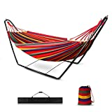 Garden Hammock with Stand, Outdoor Large Hammocks Double Person...