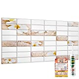 Novecrafto Decorative Wall Panels White Tiles With Refreshing...