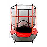 Oypla 55' Kids First Trampoline with Safety Net Enclosure & Red...