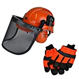 Chainsaw Safety Helmet/Hard Set & Extra Large Glov
