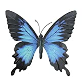 Primus Large Blue & Black Metal Garden Butterfly Wall Art for...