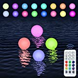 Floating Pool Lights 16 Colors Waterproof Hanging Pond LED Ball...