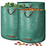 GardenGloss Garden Waste Bags with Handles (3 pcs) - 272L High...