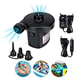 Electric Air Pump, portable quick fill AC Inflator Deflator with...