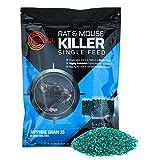 Ratkil Rat Poison (6 x25g) Rat Bait & Mouse Poison Grain -...