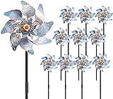 10 Pcs Bird Blinder Repellent Pinwheels Reflective, Pinwheel...