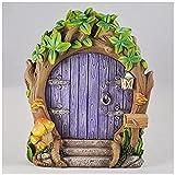 Prezents.com Fairy Garden UK Purple Forest Fairy Door Large...