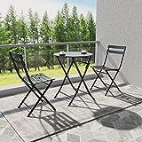 Joolihome Garden Furniture 2 Seater, Folding Metal Round Table...