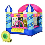 Outsunny Kids Bounce Castle House Inflatable Trampoline Basket...