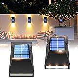 Solar Fence Lights, 4 Pack Solar Lights Outdoor Garden Fence,...