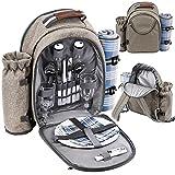 GEEZY Family Picnic Cool Bag Backpack Hamper Wine Cooler Bottle...