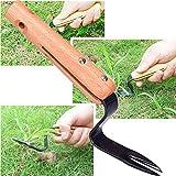 Handheld Weeder Tool Manual Weed Puller Bend-Proof Weeding Garden...