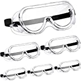 6 Pairs Safety Goggles Protective Safety Glasses Chemical Splash...