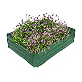 ART TO REAL Garden Metal Raised Bed, Powder-coated Raised Planter...