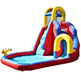 GYMAX Kids Bouncy Water Castle, Inflatable Water Park Jumper with...