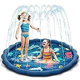 Uiter Sprinkle and Splash Play Mat Pad ,Blue Inflatable Sprinkler...