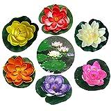 GZGXKJ 6 Pcs 10cm Artificial Floating Foam Lotus Flowers Floating...